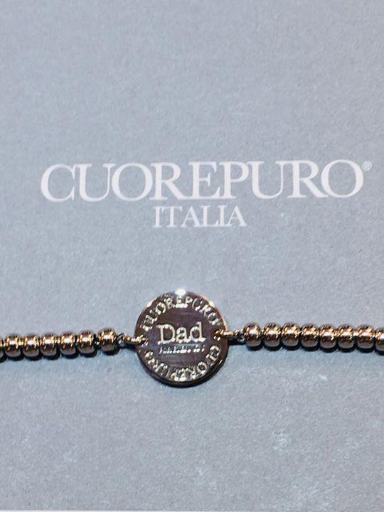 """Festa del Papà, """"DAD"""" a bracciale, e medaglia in argento 925, personalizzabile c…"""