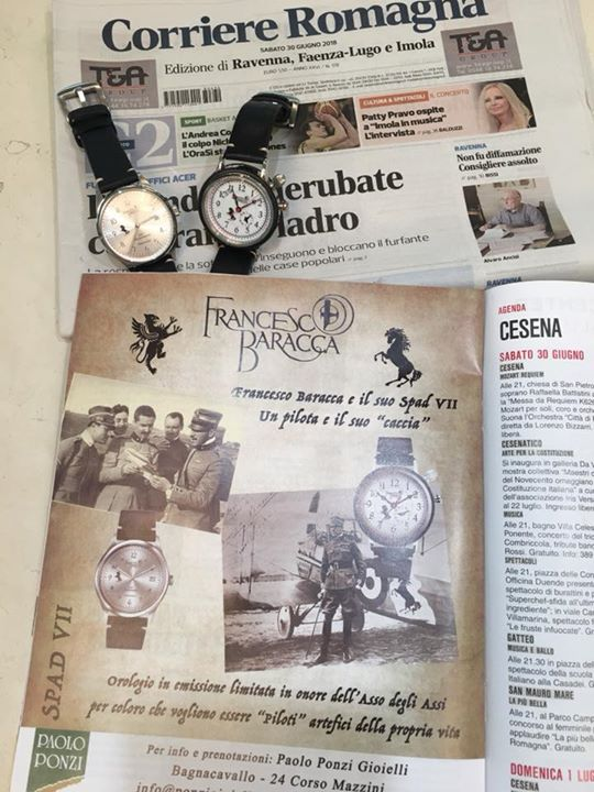 Sul  Corriere Romagna e in vetrina a Bagnacavallo, l'orologio in emissione limit…